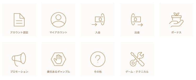 日本語サポート対応詳細